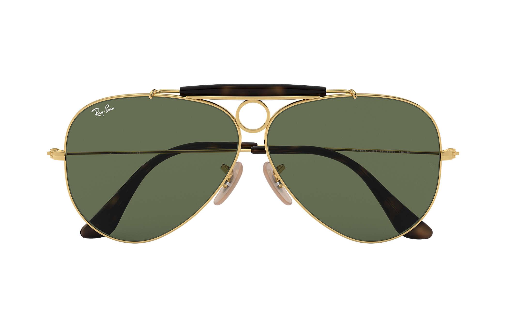 RAY BAN RAY-BAN Herren Sonnenbrille »SHOOTER RB3138«, goldfarben, 181 - gold/grün