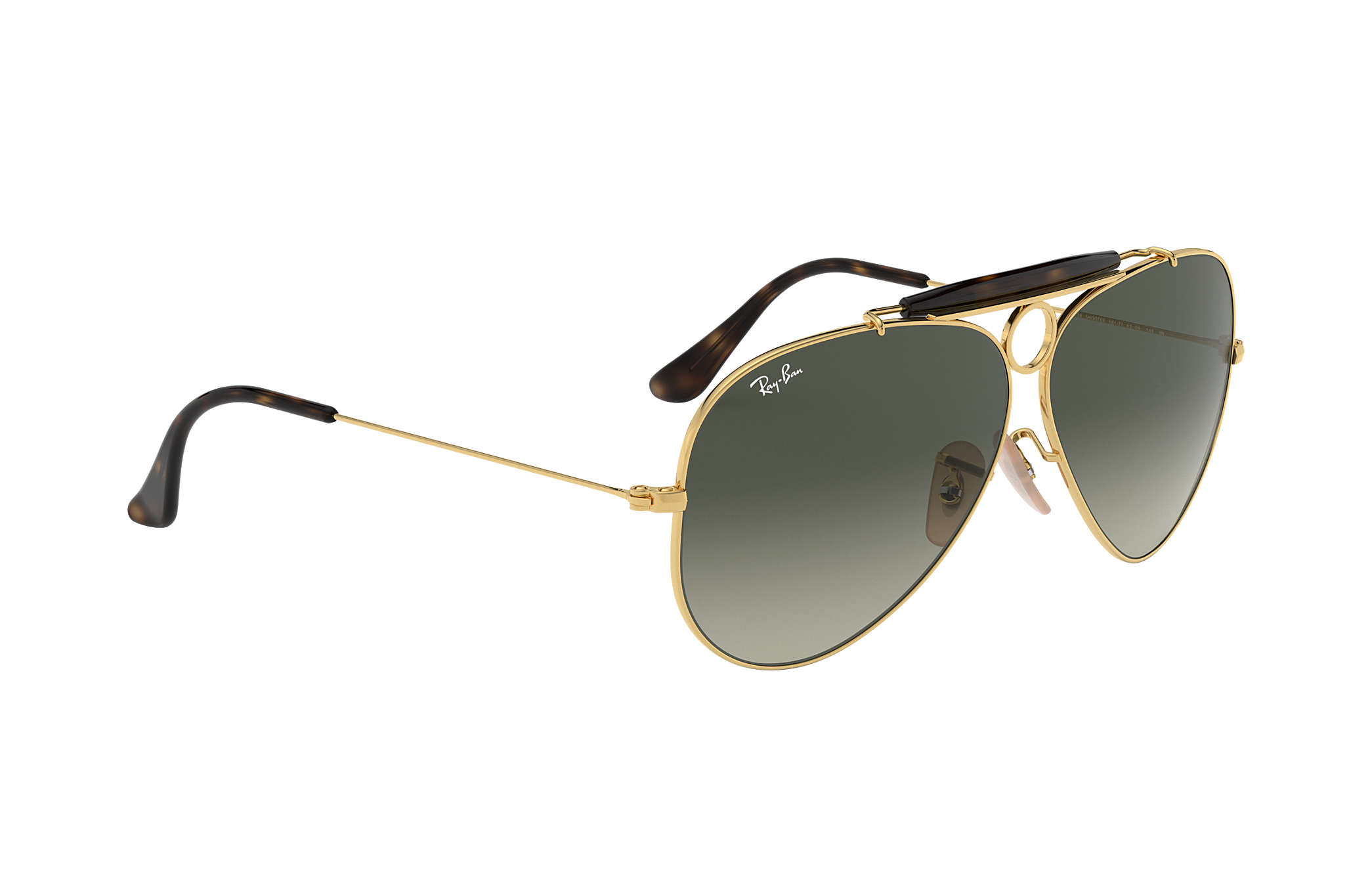 9e9d852db5f Ray-Ban Shooter Havana Collection RB3138 Gold - Metal - Grey Lenses ...
