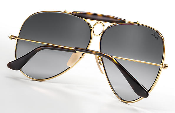 8eb698a975 Ray-Ban Shooter Havana Collection RB3138 Gold - Metal - Grey Lenses ...