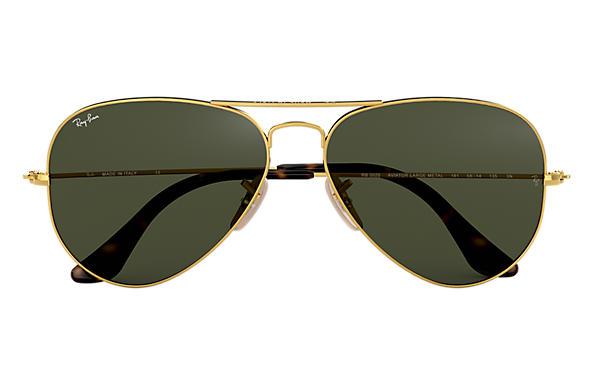 16ec7b0e44 Ray-Ban Aviator Havana Collection RB3025 Gold - Metal - Green Lenses ...