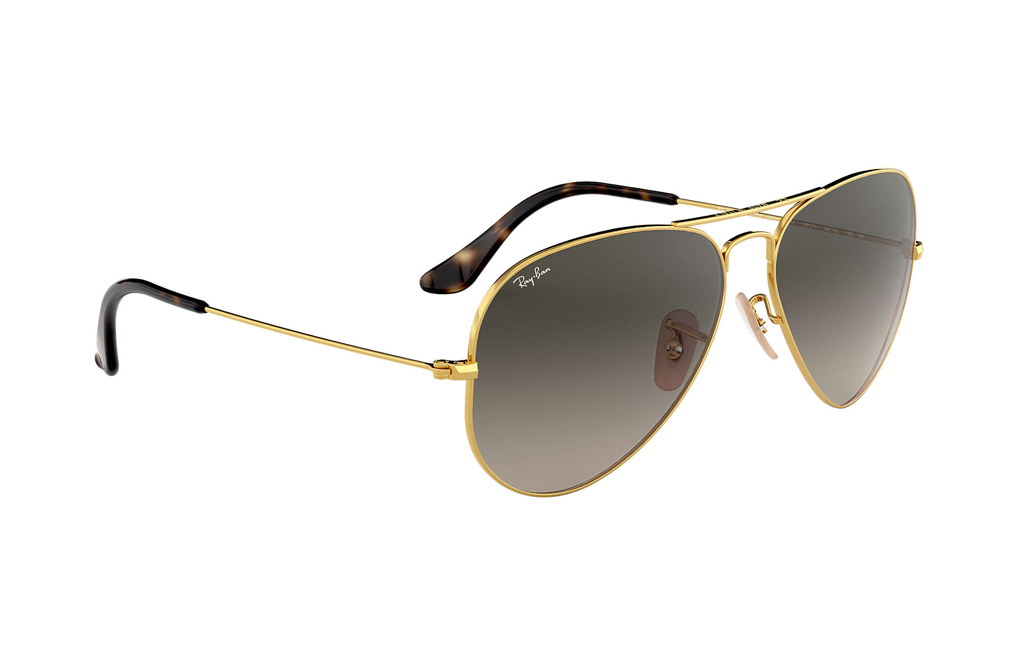 025f526acf01b Ray-Ban Aviator Havana Collection RB3025 Gold - Metal - Grey Lenses ...