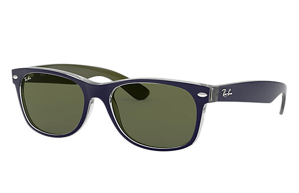 Ray Ban New Wayfarer Bicolor Rb2132 Blue Nylon Green Lenses 0rb2132618852 Ray Ban Usa