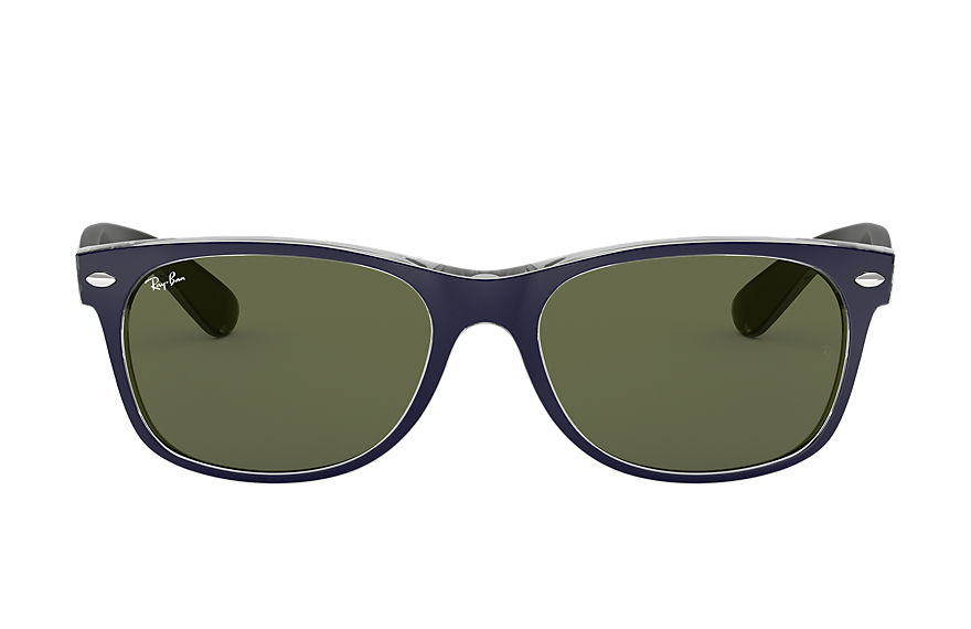 Ray-Ban NEW WAYFARER BICOLOR Blue with Green Classic G-15 lens