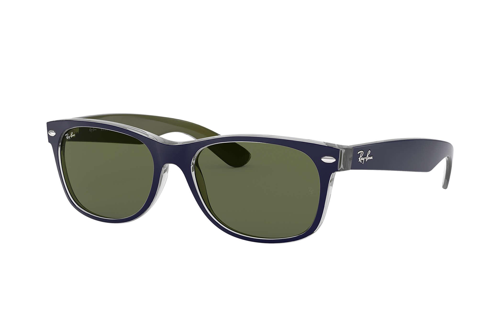 542c4a8dc Ray-Ban New Wayfarer Bicolor RB2132 Azul - Nylon - Lentes Verde ...