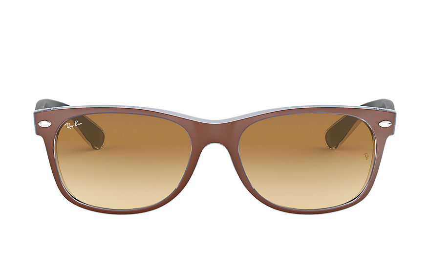 Ray-Ban  gafas de sol RB2132 UNISEX 014 new wayfarer bicolor marrón 8053672495485