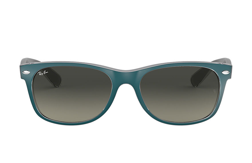 Ray-Ban NEW WAYFARER BICOLOR Niebieski with Szary Gradalne lens