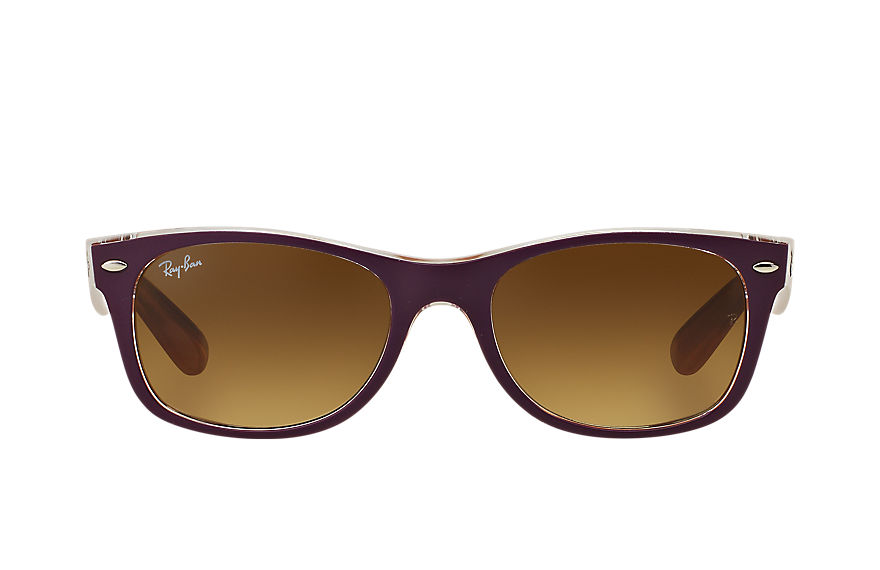 Ray-Ban NEW WAYFARER BICOLOR Violet with Brown Gradient lens