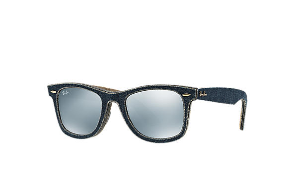 Ray-Ban 0RB2140-ORIGINAL WAYFARER DENIM Blue Denim,Braun; Blau,Braun SUN