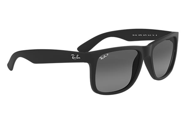 10298cf26291e Ray-Ban Justin Classic RB4165 Black - Nylon - Grey Polarized Lenses ...