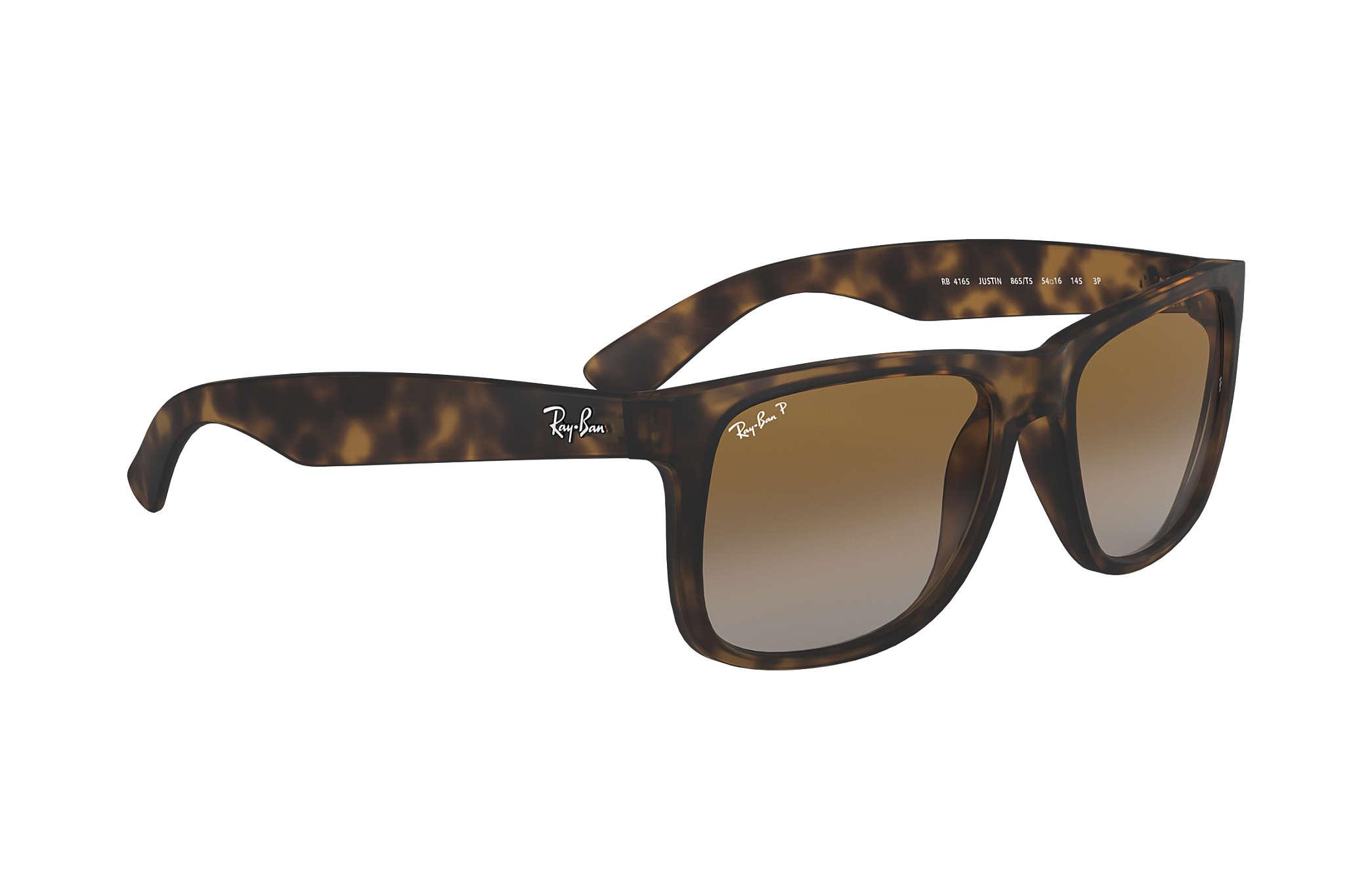 fe5ba3470d Ray-Ban Justin Classic RB4165 Tortoise - Nylon - Brown Polarized ...