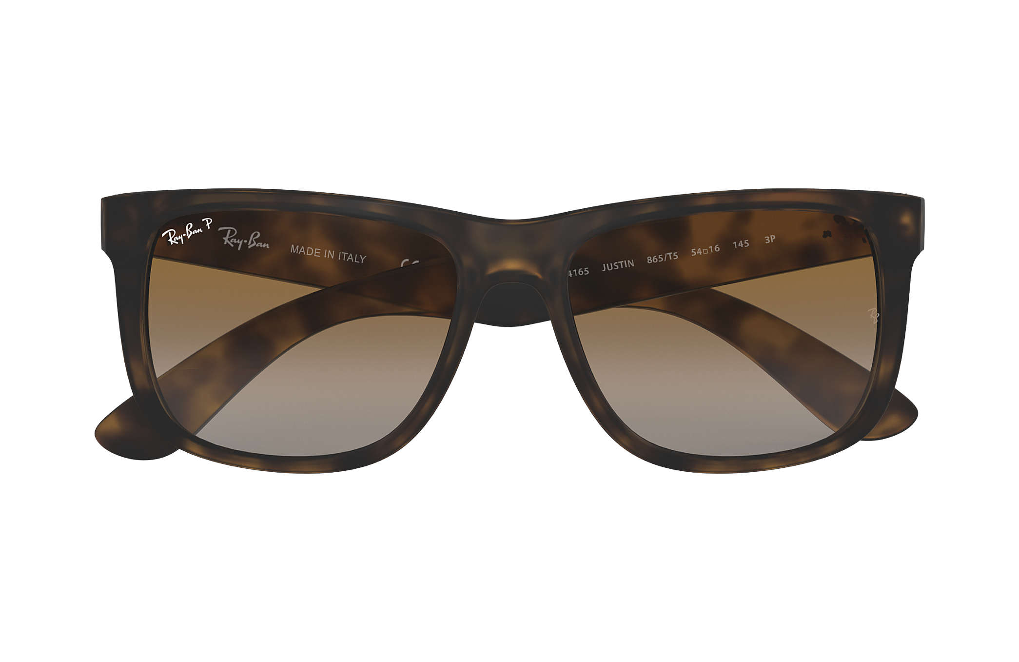 828d5f559a2ded Ray-Ban Justin Classic RB4165 Tortoise - Nylon - Brown Polarized ...