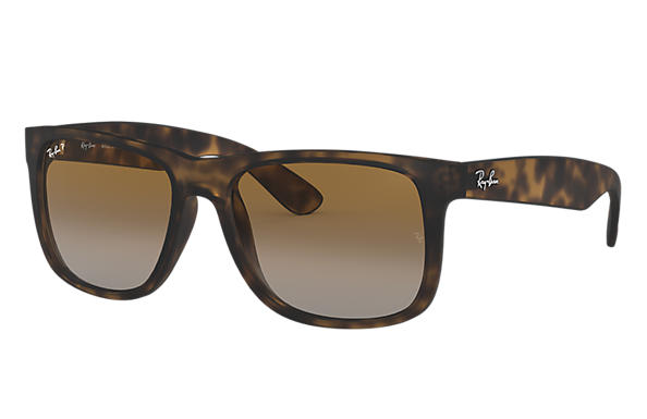 30120f5b806 Ray-Ban Justin Classic RB4165 Black - Nylon - Grey Lenses ...