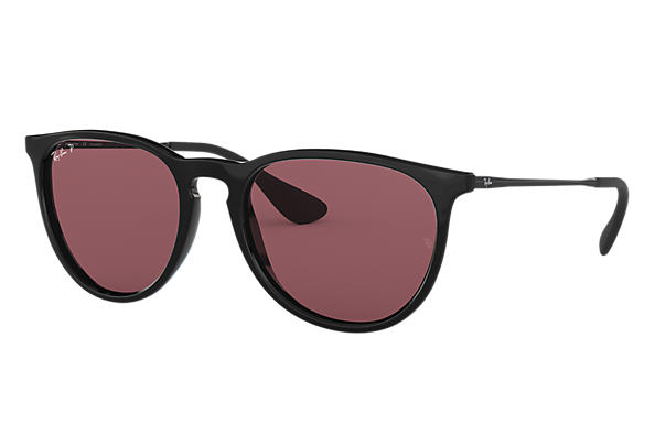 Ray-Ban Sunglasses ERIKA CLASSIC Black with Purple Mirror lens