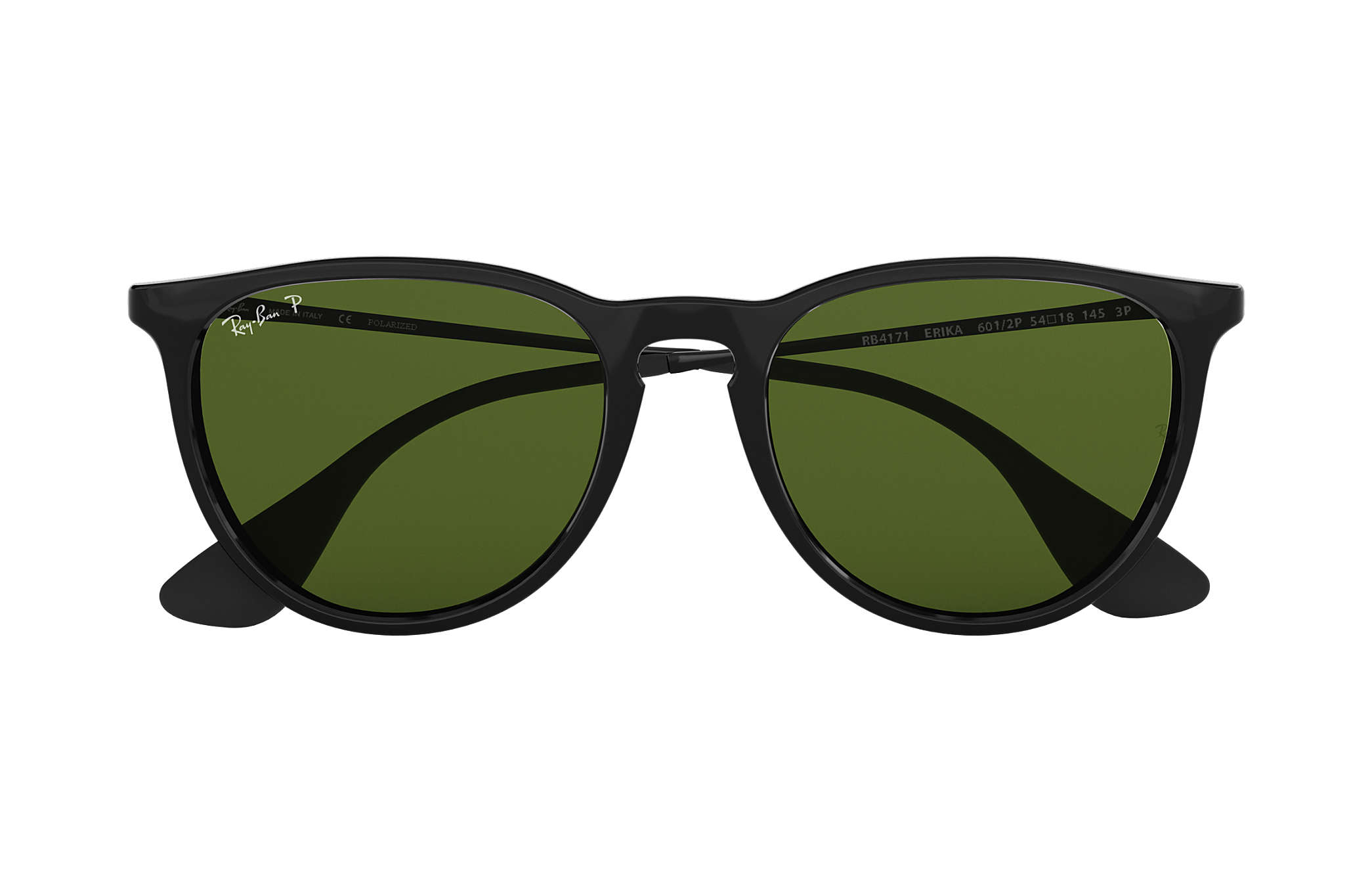 Ray Ban RB4171 Erika 6012P BlackPolarized Green Classic G 15 Sunglasses