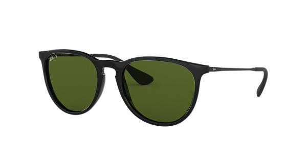 c0fef3b33e Ray-Ban Erika Classic RB4171 Black - Nylon - Green Polarized Lenses -  0RB4171601 2P54