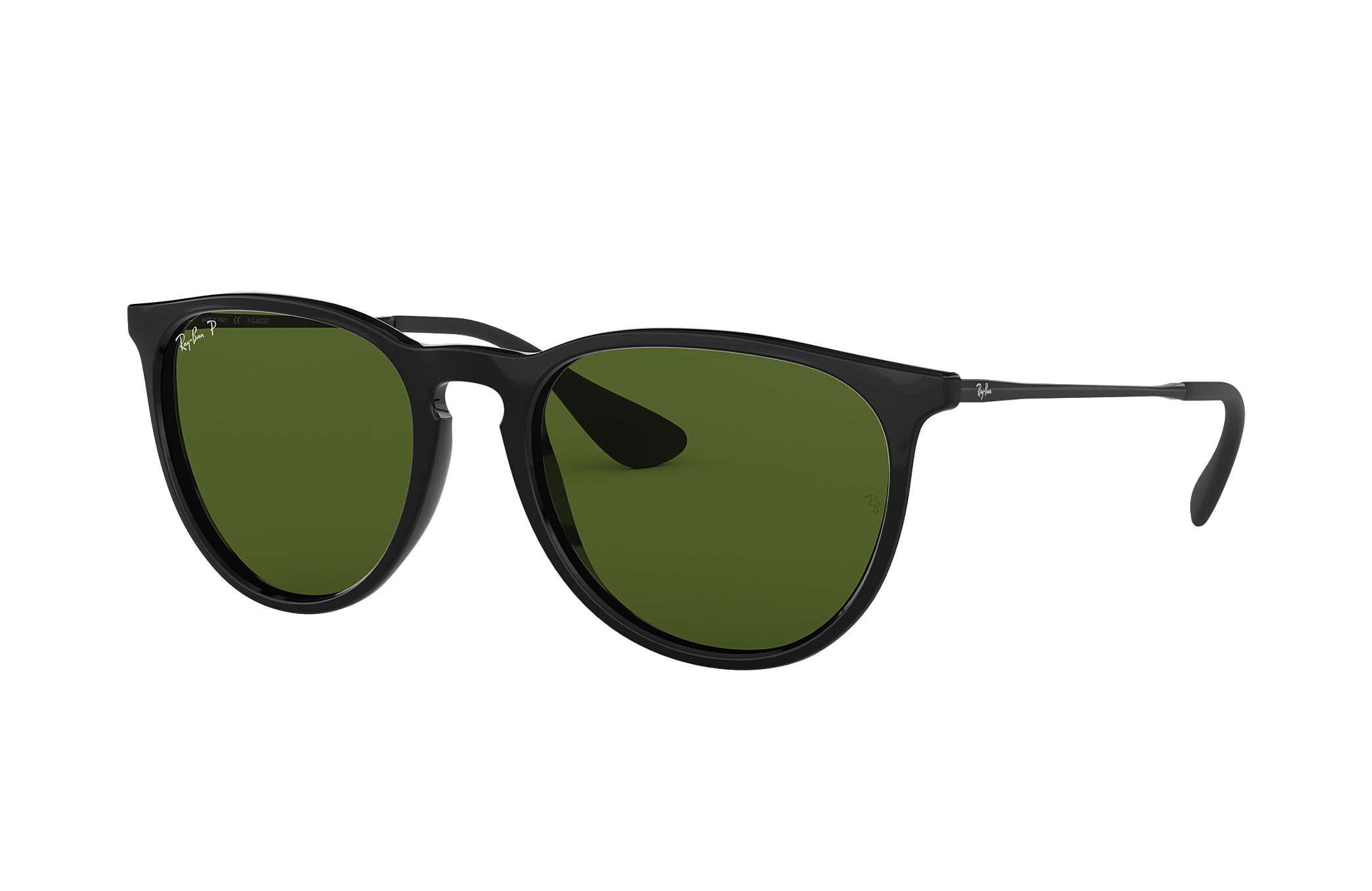 699ca8523a2a0 Ray-Ban Erika Classic RB4171 Black - Nylon - Green Polarized Lenses ...