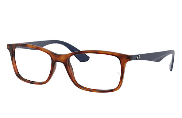 Ray-Ban 0RX7047-RB7047 Tortoise; Blue OPTICAL