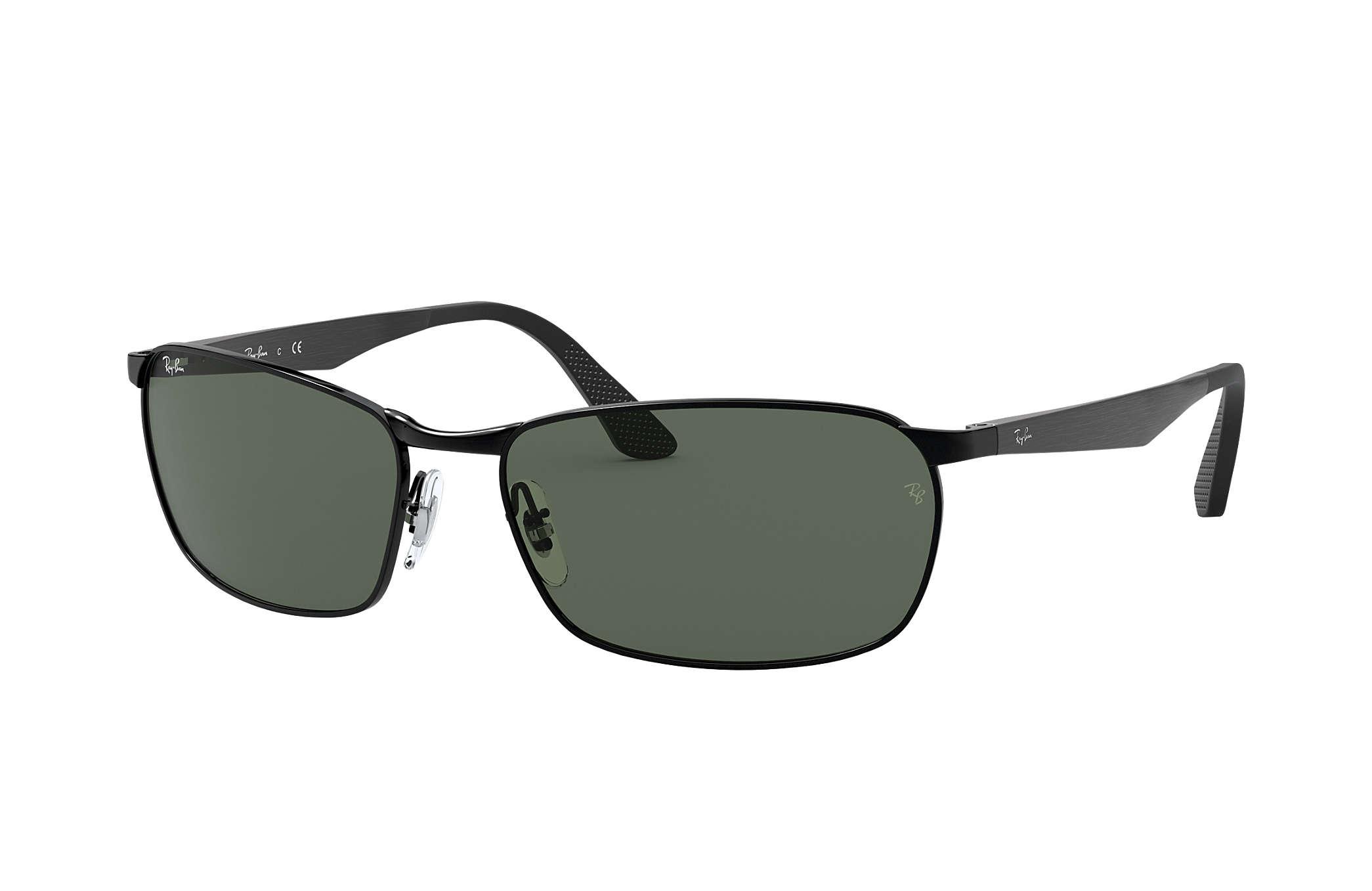 3e305edac0159 Ray-Ban RB3534 Black - Metal - Green Lenses - 0RB353400259
