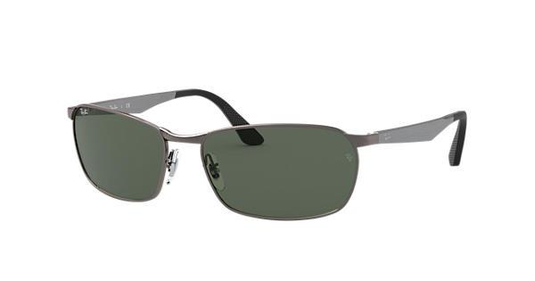 e4ca58e2647 Ray-Ban RB3534 Gunmetal - Metal - Green Lenses - 0RB353400459