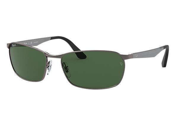a4ee9de8cc1 Ray-Ban RB3534 Gunmetal - Metal - Green Polarized Lenses ...