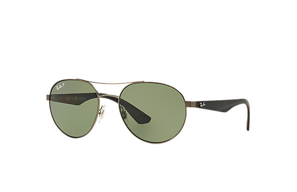d4ea32f4f89 Ray-Ban RB3536 Gunmetal - Metal - Green Polarized Lenses ...