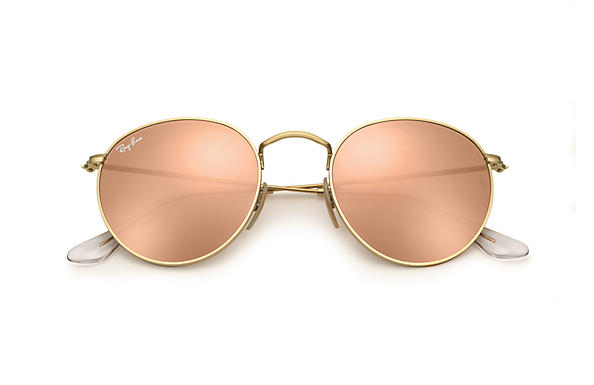 8cc449bc8 Ray-Ban Round Metal Folding RB3532 Gold - Metal - Copper Lenses ...
