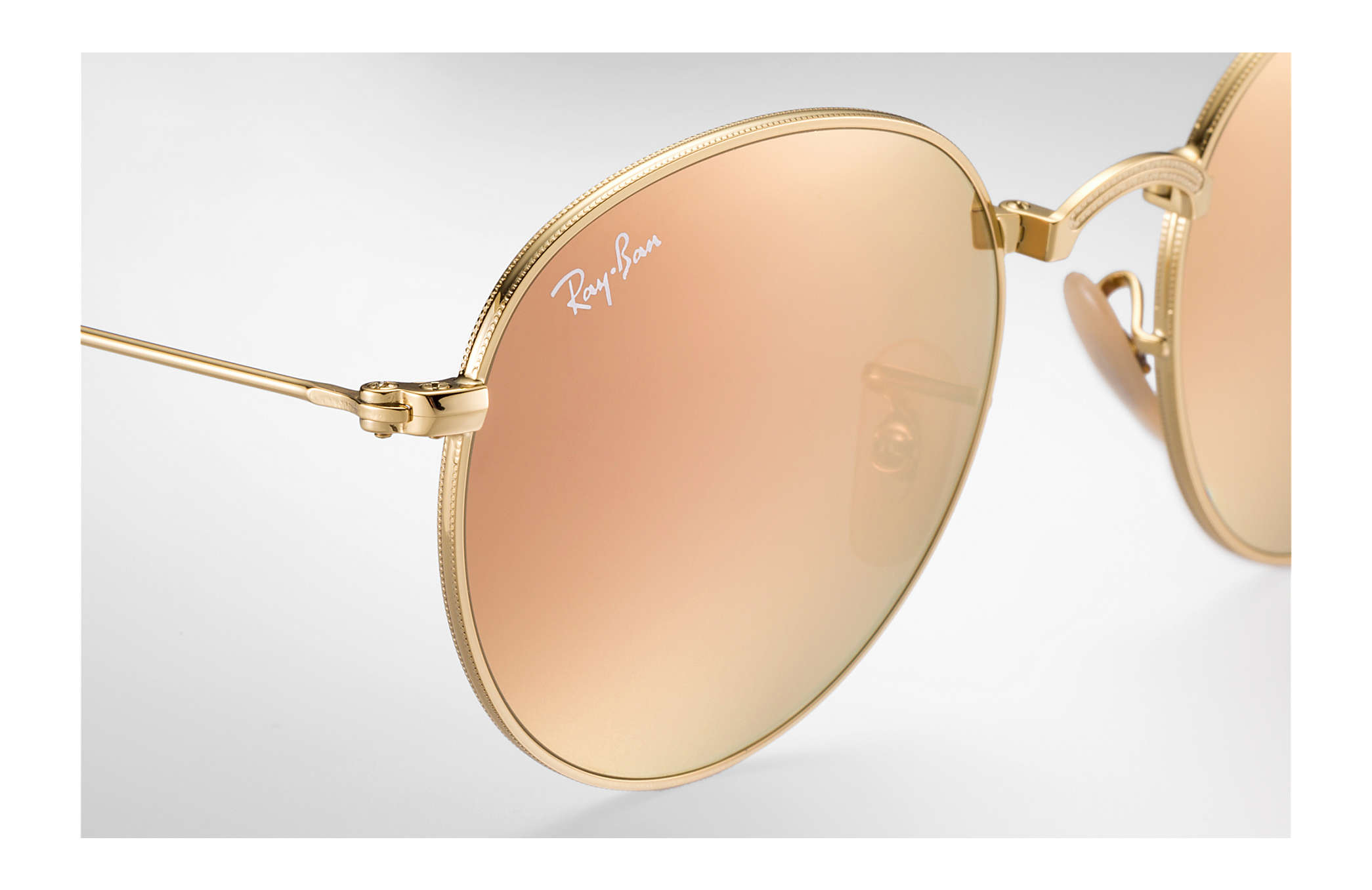 59d55a856 ... Ray-Ban 0RB3532-ROUND DOBRÁVEIS EM METAL Ouro SUN ...