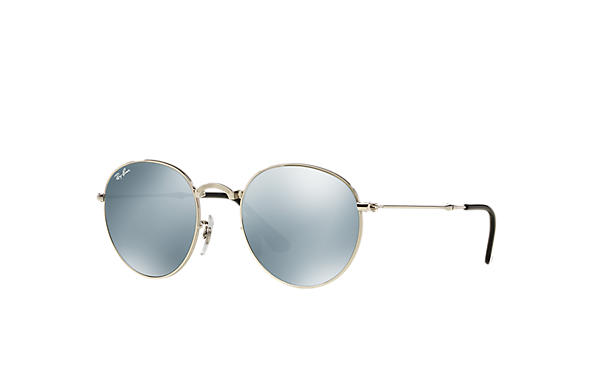 Ray-Ban 0RB3532-ROUND METAL FOLDING Silver SUN