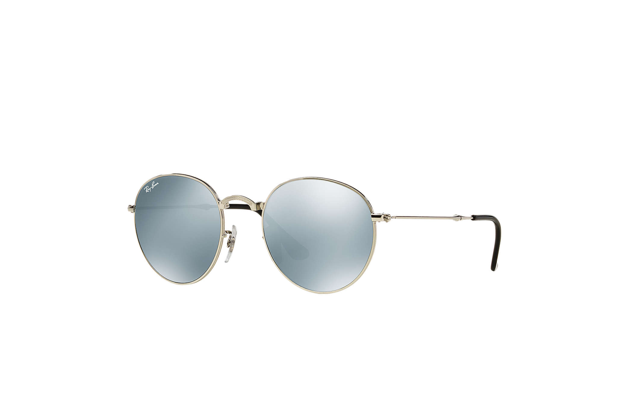 cdfedc3067e Ray-Ban Round Metal Folding RB3532 Silver - Metal - Silver Lenses ...