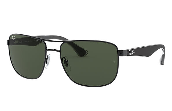256f24c7de281 Ray-Ban RB3533 Black - Steel - Green Lenses - 0RB3533002 7157