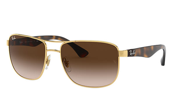 3a181bd5fd Ray-Ban RB3533 Gold - Steel - Brown Lenses - 0RB3533001 1357