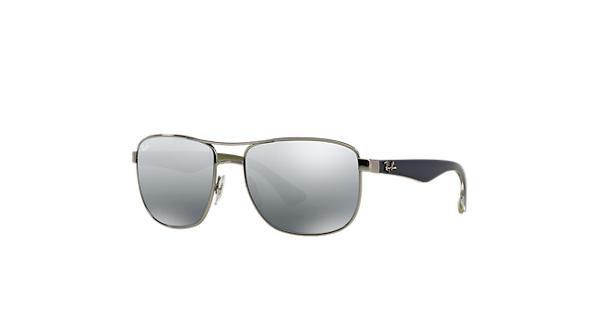 8ef35c2db7 Ray-Ban RB3533 Gunmetal - Steel - Grey Lenses - 0RB3533004 8857 ...