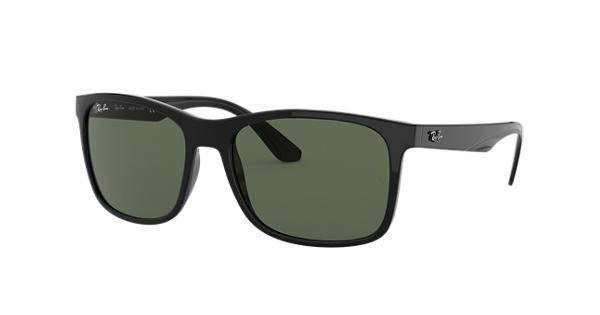 dd13ac540cd Ray-Ban RB4232 Black - Nylon - Green Lenses - 0RB4232601 7157