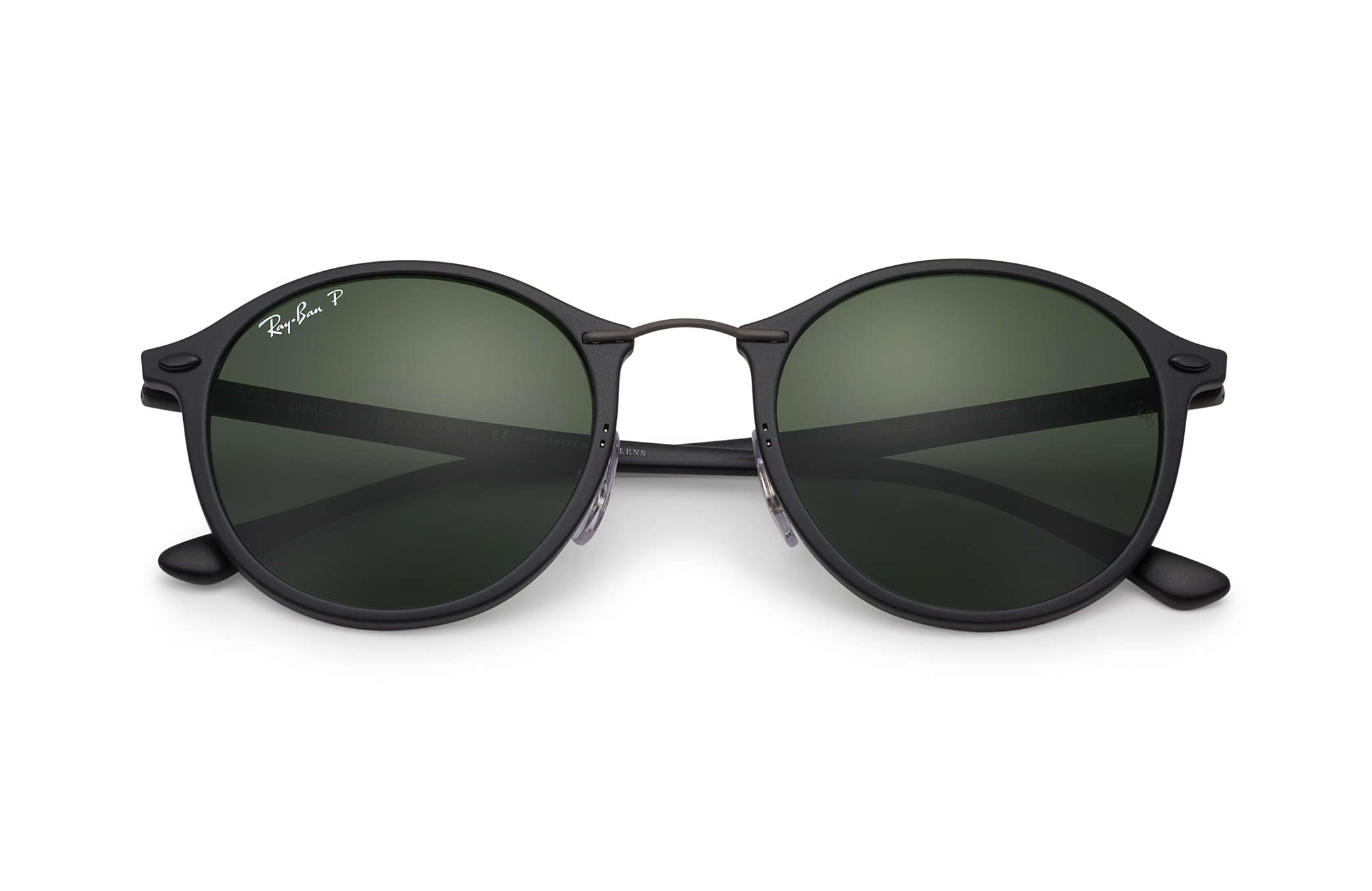 18661d0c19 Ray-Ban RB4242 Black - LightRay Titanium - Green Polarized Lenses ...