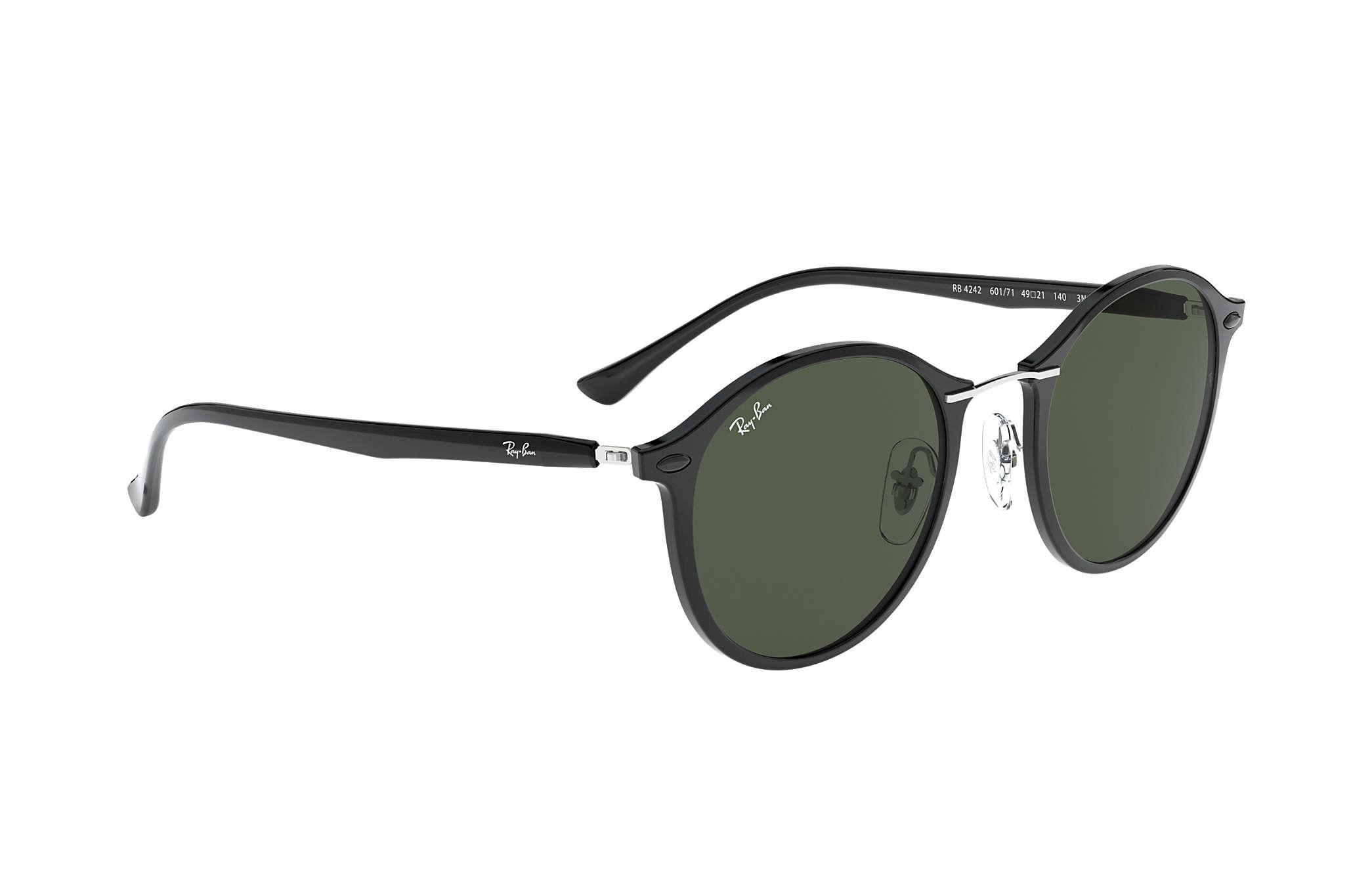 2acab1616f7 Ray-Ban RB4242 Black - LightRay Titanium - Green Lenses - 0RB4242601 ...