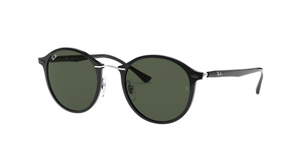 b1c2ae4578 Ray-Ban RB4242 Black - LightRay Titanium - Green Lenses - 0RB4242601 7149