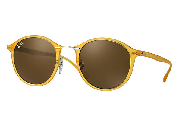 b8ee66a23d Ray-Ban RB4242 Yellow - LightRay Titanium - Brown Lenses ...