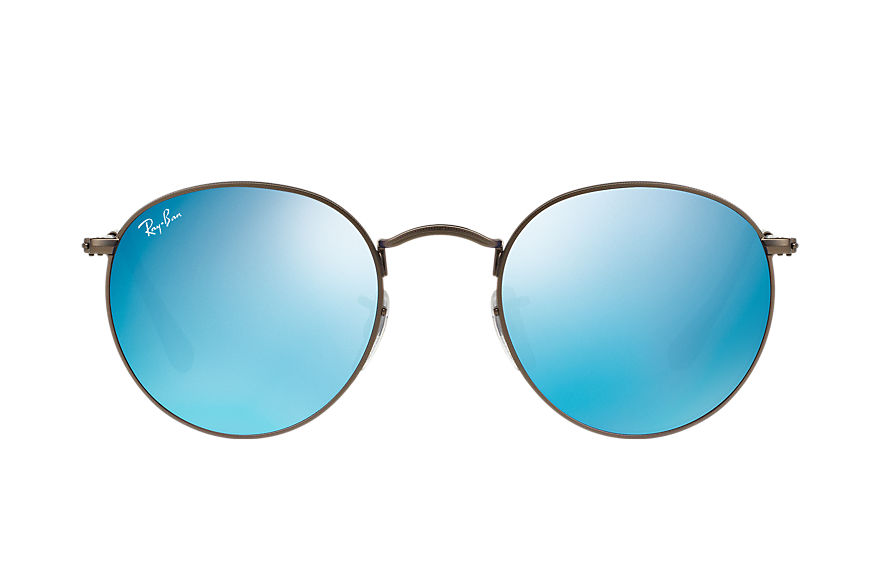 Ray-Ban ROUND FLASH LENSES Bronze-Copper with Lilac Mirror lens