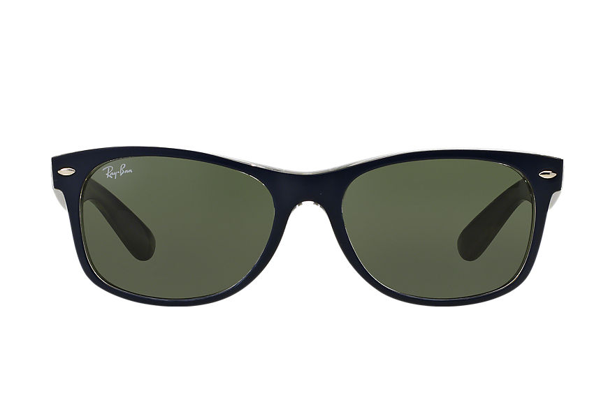Ray-Ban Sunglasses NEW WAYFARER BICOLOR Blue with Green Classic G-15 lens