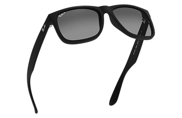47cbb56049 Ray-Ban Justin Classic RB4165F Black - Nylon - Grey Polarized Lenses ...
