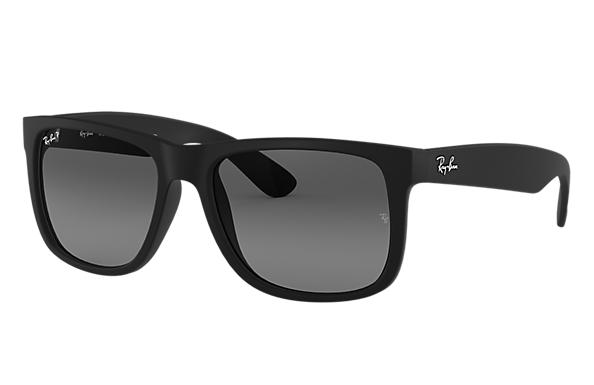 fb035339ad Ray-Ban Justin Classic RB4165F Black - Nylon - Grey Polarized Lenses ...