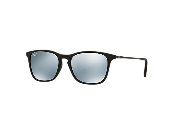 29aa5959af Ray-Ban Chris Junior RB9061S Black - Nylon - Blue Lenses - 0RJ9061S70055549