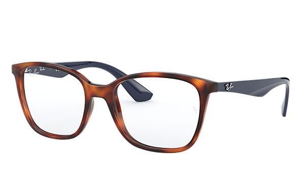 Ray-Ban 0RX7066-RB7066 Tortoise; Blue OPTICAL