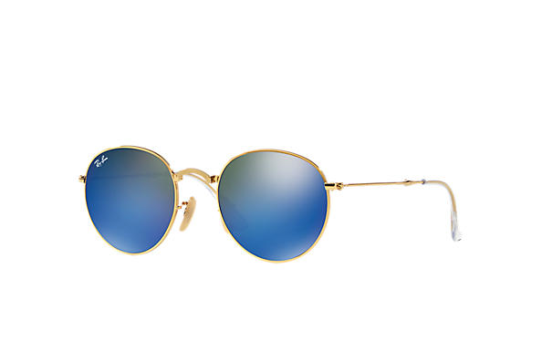 Ray-Ban 0RB3532-ROUND METAL FOLDING Gold SUN