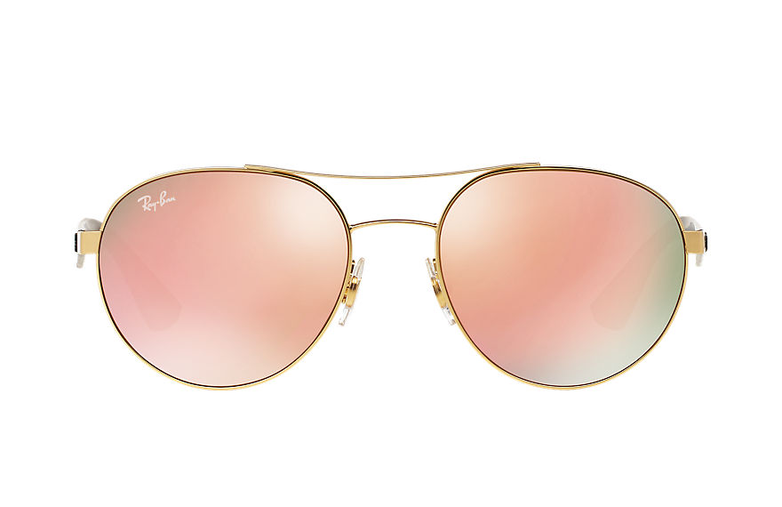 Ray-Ban Sunglasses RB3536 Gold with Copper Mirror lens