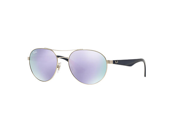 1ea2931d489 Ray-Ban RB3536 Silver - Metal - Lilac Lenses - 0RB3536019 4V55