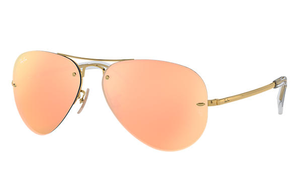 Ray-Ban RB3449 Gold - Metal - Copper Lenses - 0RB3449001 2Y59   Ray ... f0840f5825
