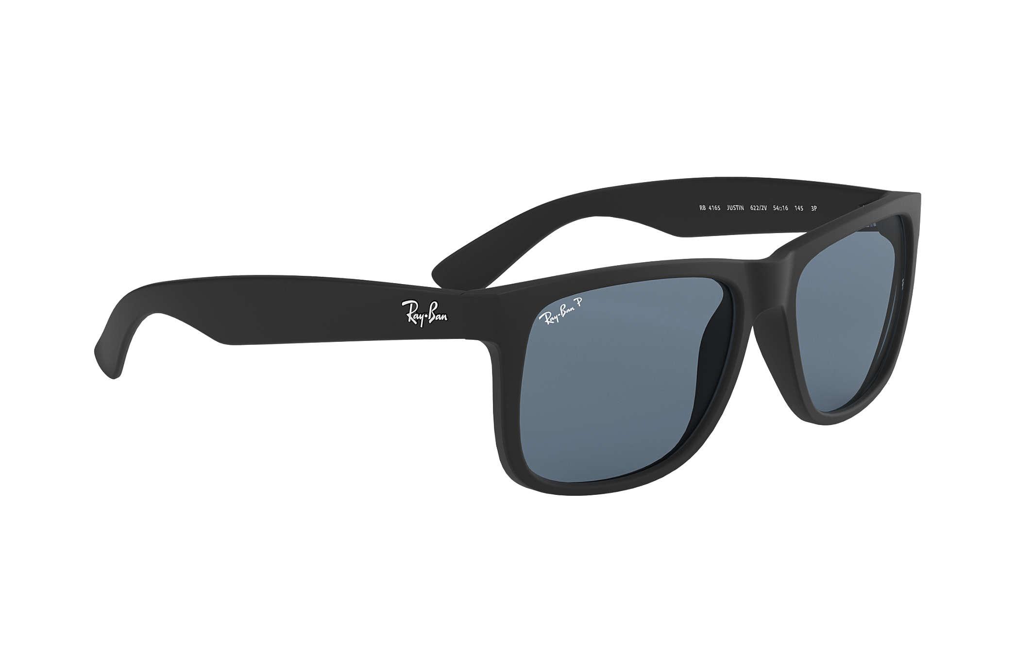 972659df66 Ray-Ban Justin Classic RB4165 Black - Nylon - Blue Polarized Lenses ...