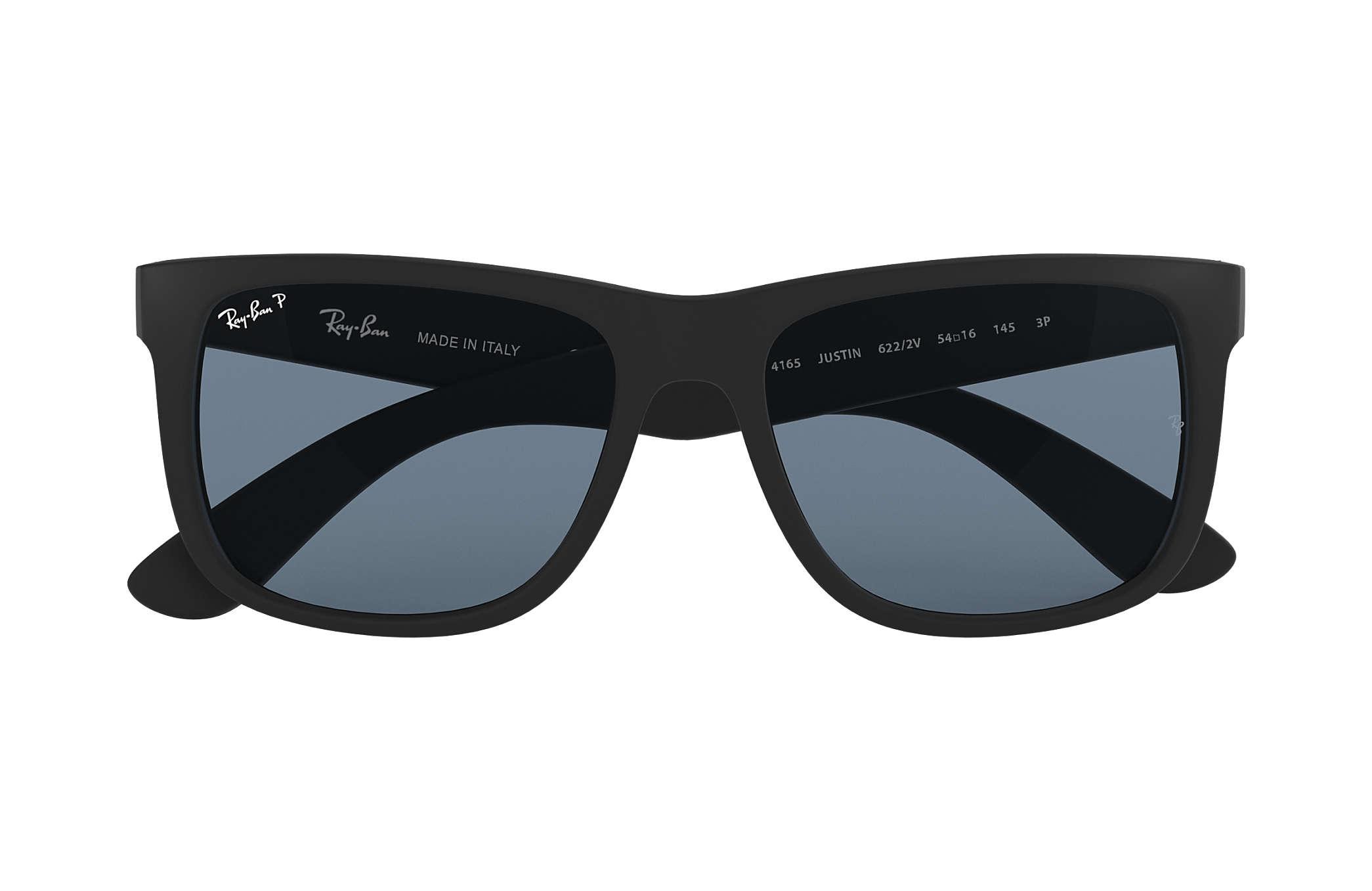 Ray-Ban Justin Classic RB4165 Black - Nylon - Blue Polarized Lenses ... 74cd4d7e981b