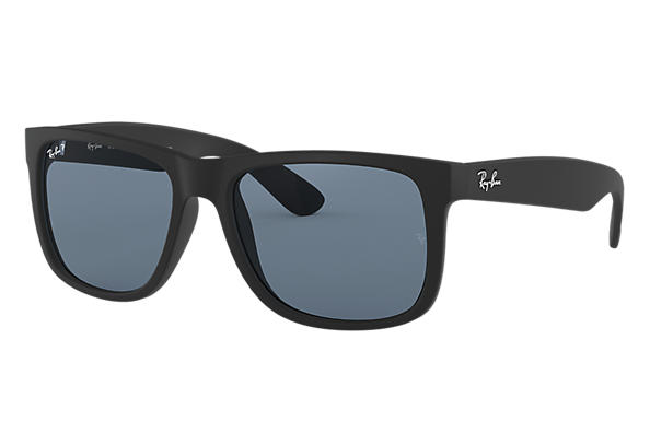 85481b6f332b4 Ray-Ban Justin Classic RB4165 Black - Nylon - Blue Polarized Lenses ...